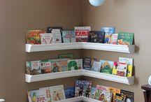 Gutter bookshelf