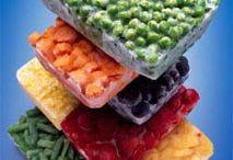 congelamento de vegetais e frutas