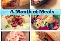 Meals for a month / Organized meal planning