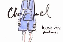 Couture-fall 2014 / doodles of the designers collections