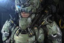 Futuristic army gear