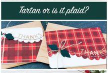 Tartan or plaid cards