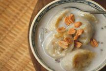 Banana coconut tapioca soup