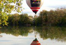 Reflet montgolfière Vinovalie dans le Tarn