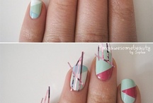 Geo Nails /|\ / geographic nail designs