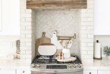 brick in kitchen