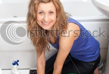 women enjoy cleaning products