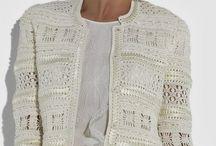 veste blanche crochet