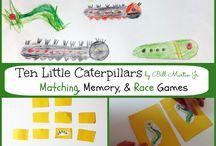Ten Little Caterpillars / Activities, songs, fun ways to share this wonderful children's story