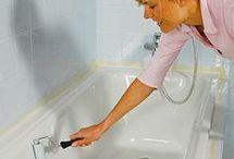 Böden & Badewanne streichen