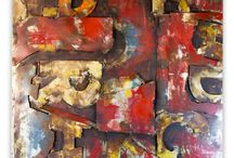 Industrial Metal Wall Art / Tribeca Metal Artwork is a select collection of hand-made industrial wall decor that unites accents of raw metal with brush painted artistry to forge amazing retro abstract and modern metal art.