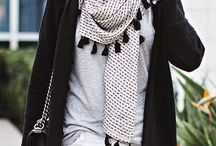 It's all about scarves and accessories!