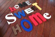 Letras pintadas / Letras de madera pintadas