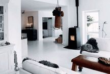 Fireplaces, mantlepieces, fire and coziness