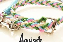 Dog collar & leash / Handmade rope dog collars and leashes, Aquisette design made in Italy