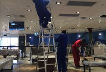 Cleaning inside Suspended Ceilings