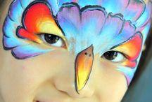 Blou uiltjie gesig make up