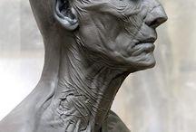 Sculpter bust head / Heykeller