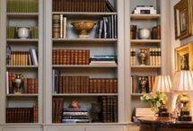 Bookshelf Styling / Bookshelves styling ideas, how to decorate bookshelves and bookcases, decorating home libraries with books, display items for bookcases, art for bookshelves, bookcase styling ideas and tips