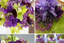 Purple & Green Wedding colors