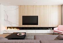 interiors: tv wall / fireplace inspiration
