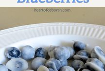"Recipe Ideas: Blueberries / Each week I play ""What's this Wednesday"" with my community.  We share our favourite ways to eat a healthy food - because we all could use some kitchen inspiration! #recipes for #blueberries Join us: http://KristenYarker.com"