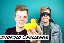 Twin Challenges / Funny British twins, NikiNSammy, do YouTube challenge videos! http://youtube.com/nikinsammy