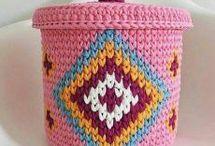 cestas en crochet
