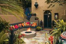 terrasse banquette ciment