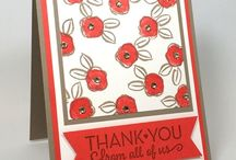 Thank You / Simple & pretty thank you card ideas & paper crafting tips using Stampin' Up! products. Card making & inspiration posted daily http://stampinpretty.com / by Mary Fish - Stampin' Up! Demonstrator