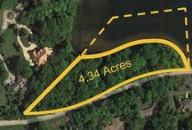 22216 W. Cuba Rd., Lot 95, Kildeer, Illinois 60047 / Once in a lifetime opportunity to build a custom home in a picture perfect setting with almost 1,000 ft of water frontage, situated on 4.34 wooded acres on Bishops Lake in Kildeer!