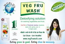 VEG FRU WASH / Veg Fru Wash is an edible ingredients based Fruit & Vegetable Wash to clean toxicants like pesticides/fungicides residue, bacteria, hidden fungi, sand, wax, dirt, grime, oils, etc from Fruits and Vegetables. Veg Fru Wash comes with the excellent cleaning power to gently wash away every type of surface toxicants present on the surface of fruits and vegetables which is nearly impossible to wash through water washing alone.