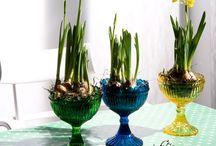 Blomster og lys dekroation