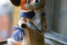 Felted pieces / Needle felted creations