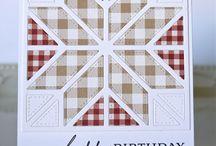 Handmade quilt cards