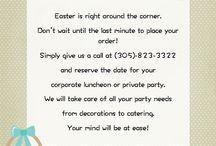 Menu / corporate events private parties holiday parties birthdays