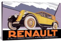 Vintage Car Art / Here is a great selection of Vintage Car Art. So many intricate drawings and paintings that you can use to brighten up any empty wall or room!