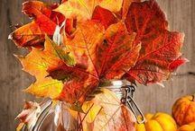 秋飾り付け