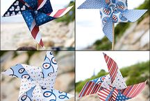 Holiday: July/ America/ Red White Blue/July  /  #memorial day, #redwhiteandblue, #america, #4thofjuly, #starsandstripes #pinwheels / by House Of Joyful Noise