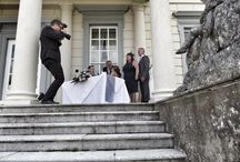 Backstage images / Pictures of me caught by guests as I photograph different weddings!