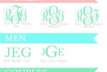 monograms / Fonts, rues, monogrammed items -- designed to help you createmonogrammed needlepoint