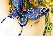 mariposas brillantes