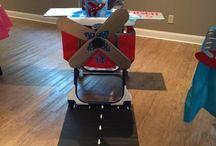 1 birthday baby theme airplane