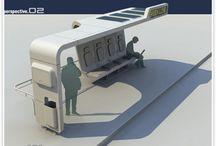 Bus Stop / Shelter / Station / Parada de Ônibus / Paradas de ônobus modernas e em harmonia com o verde e sustentabilidade.