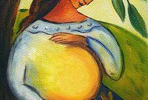 těhotenství, porod, kojení
