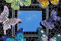 Mozaïek / Ideeën voor het mozaïeken van vlinders