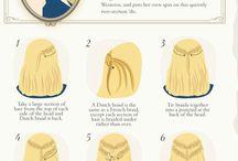 idées pour se coiffer!
