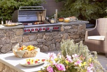 OUTDOOR KITCHENS / Grilling and chilling.