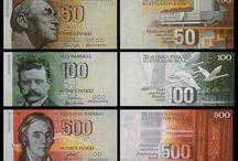 bankovky, poštovní známky