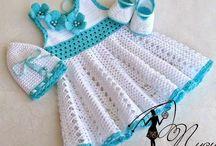 Платья маленьким крючком / вязание